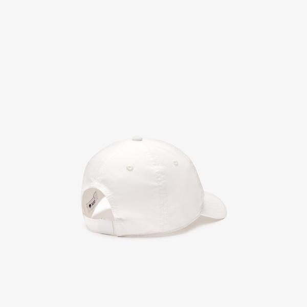 Lacoste Unisex Desenli Beyaz Şapka