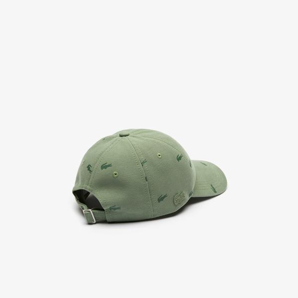 Lacoste Unisex Desenli Haki Şapka
