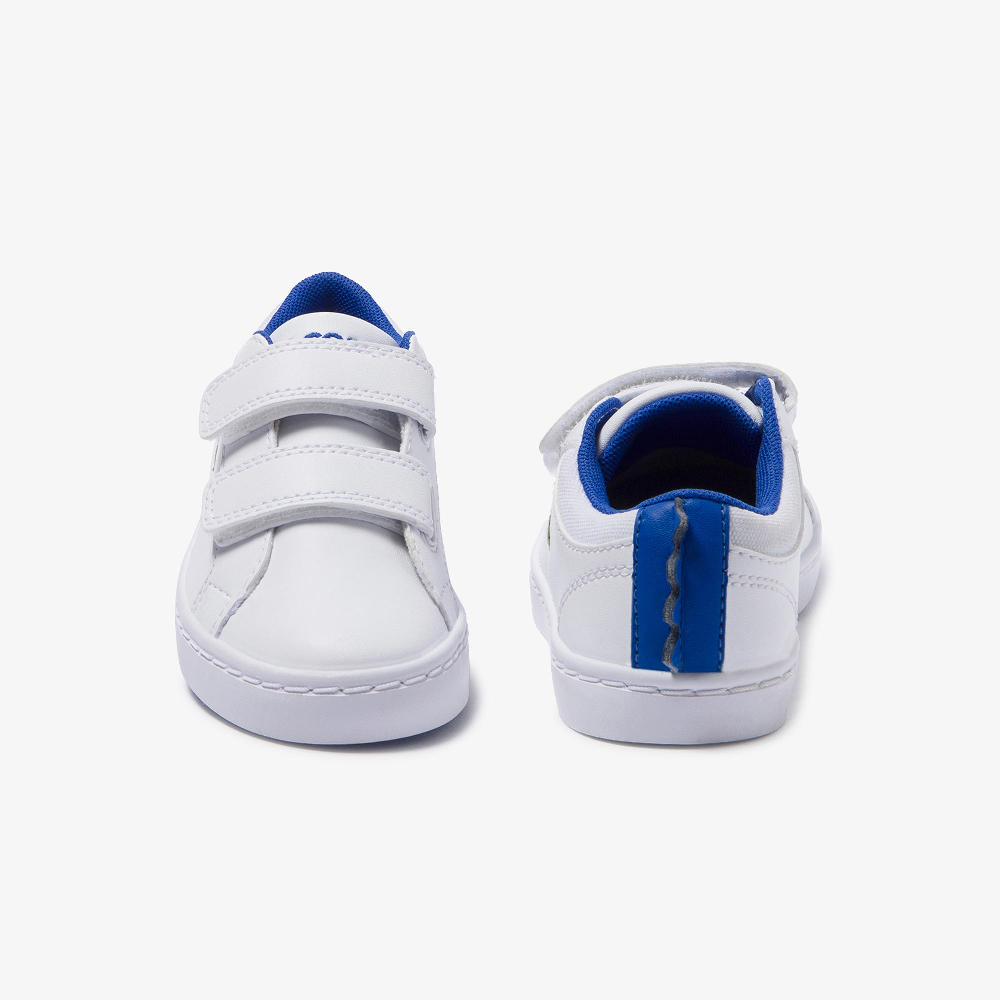 Lacoste Straightset 120 1 Cui Çocuk Beyaz - Mavi Sneaker