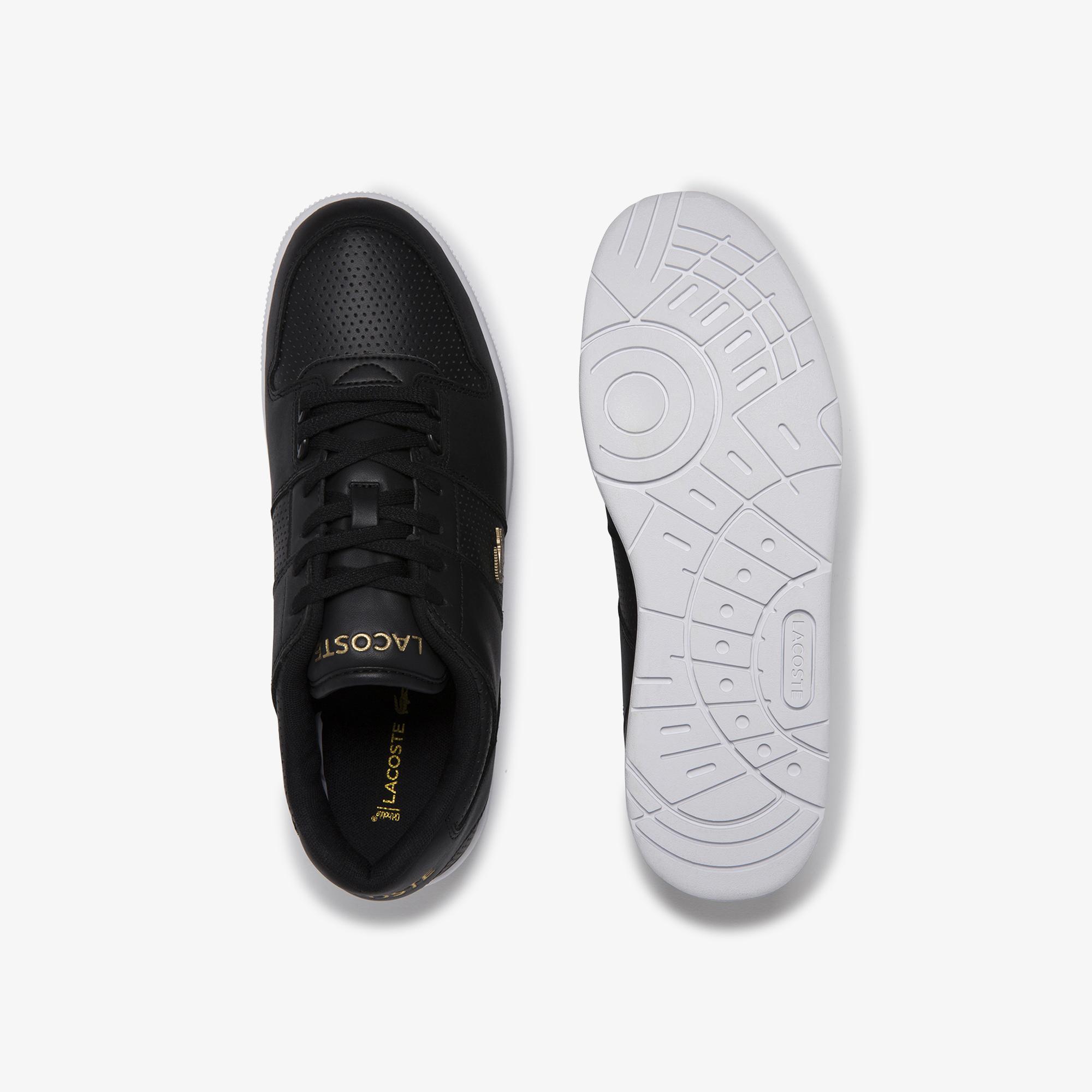 Lacoste Thrill 120 4 Us Sma Erkek Siyah - Beyaz Deri Sneaker