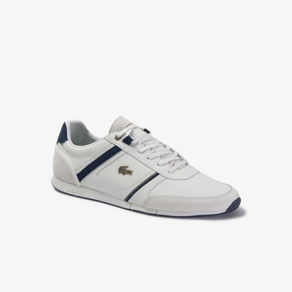 Lacoste Menerva 120 1 Cma Erkek Beyaz - Lacivert Deri Casual Ayakkabı