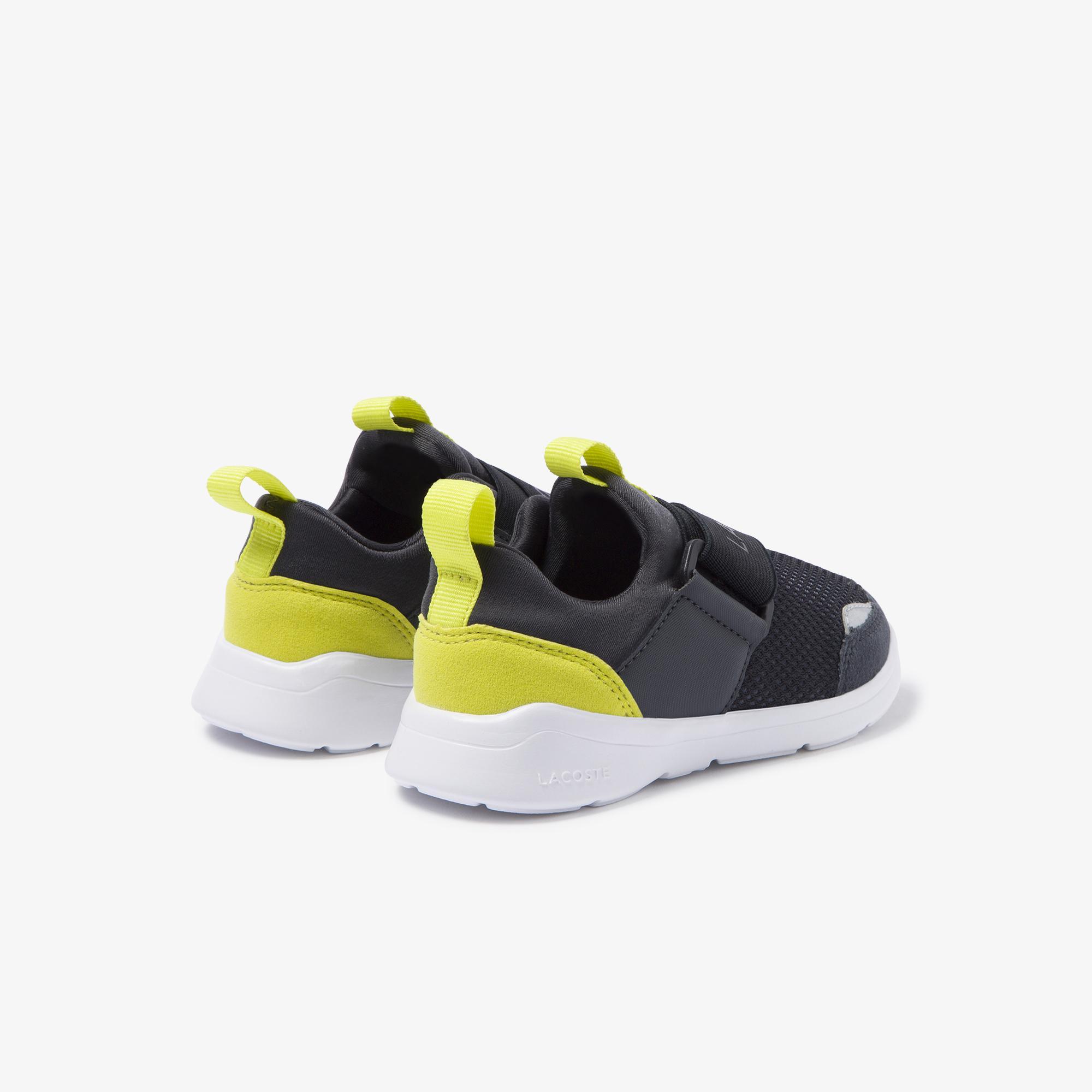 Lacoste Lt Dash Slip 120 1 Sui Çocuk Koyu Gri - Sarı Sneaker
