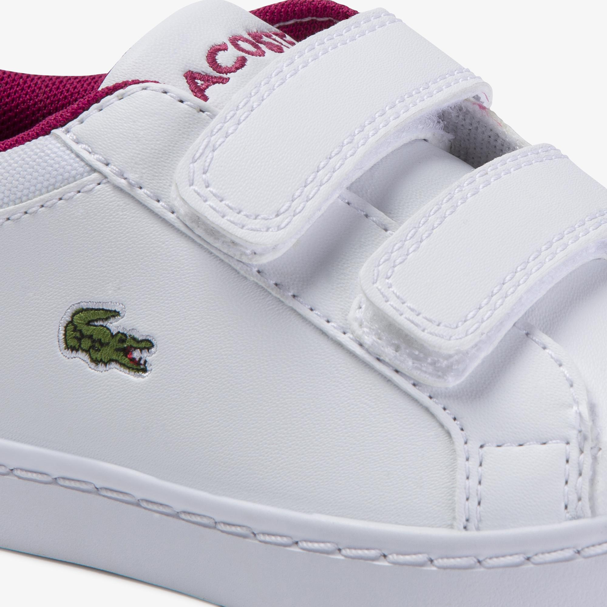 Lacoste Straightset 120 1 Cui Çocuk Beyaz - Koyu Pembe Sneaker