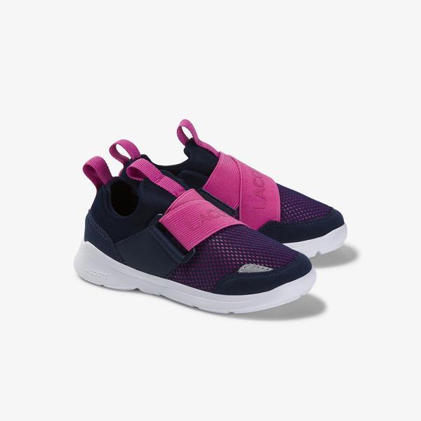 Lacoste Lt Dash Slip 120 1 Sui Çocuk Lacivert - Pembe Sneaker