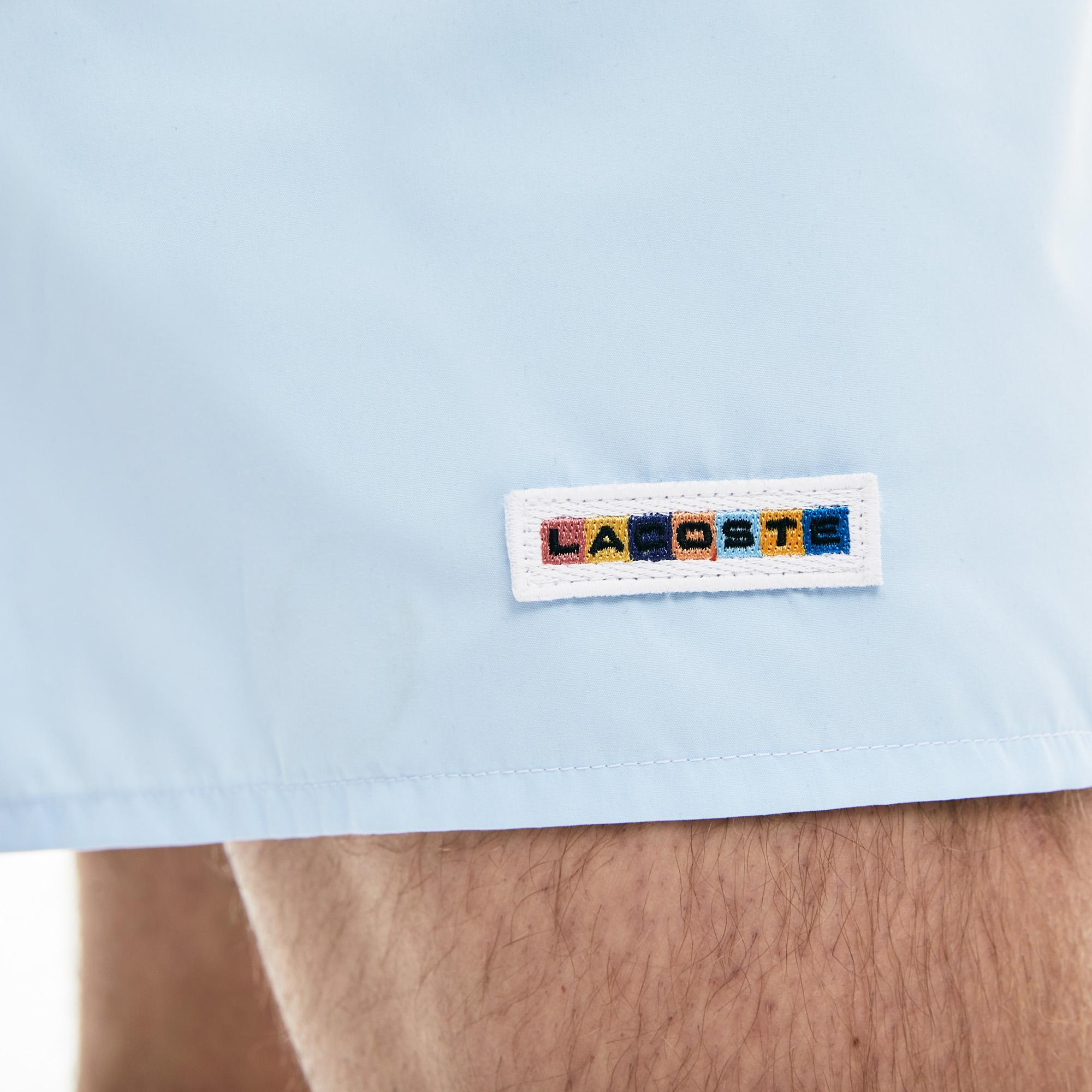 Lacoste Erkek Blok Desenli Renkli Şort Mayo