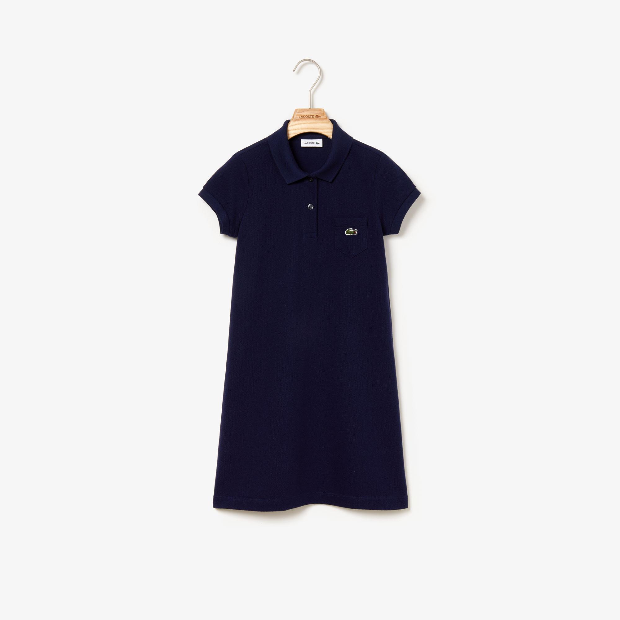 Lacoste Çocuk Lacivert Polo Yaka Elbise