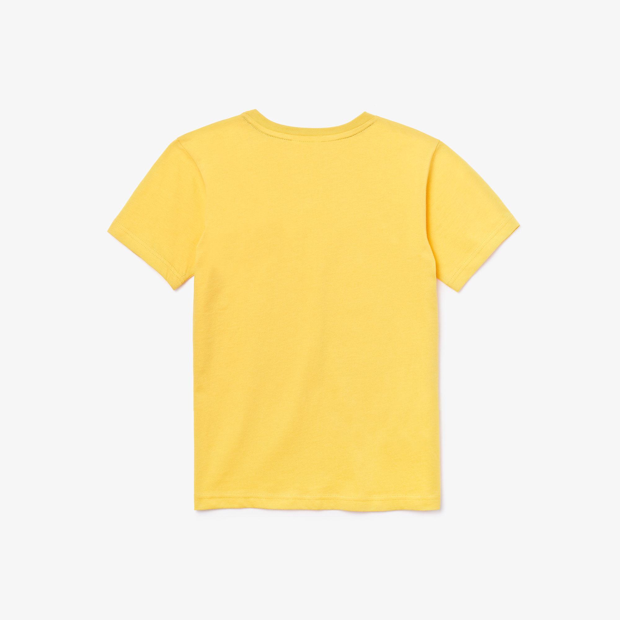 Lacoste Çocuk Bisiklet Yaka Sarı T-Shirt