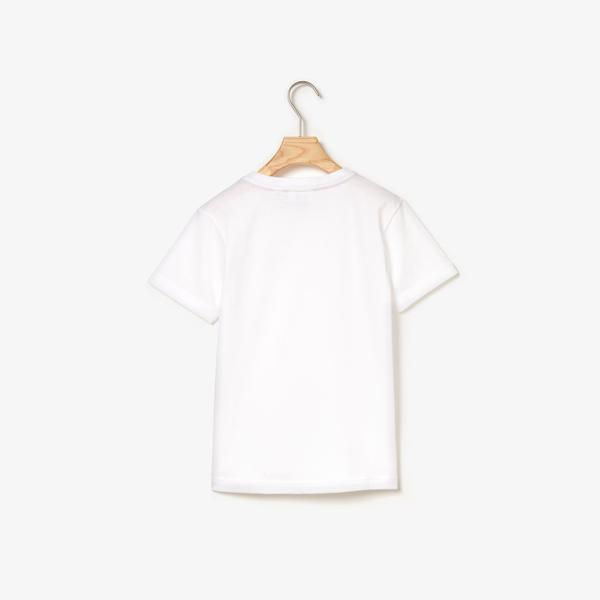 Lacoste Çocuk Bisiklet Yaka Beyaz T-Shirt