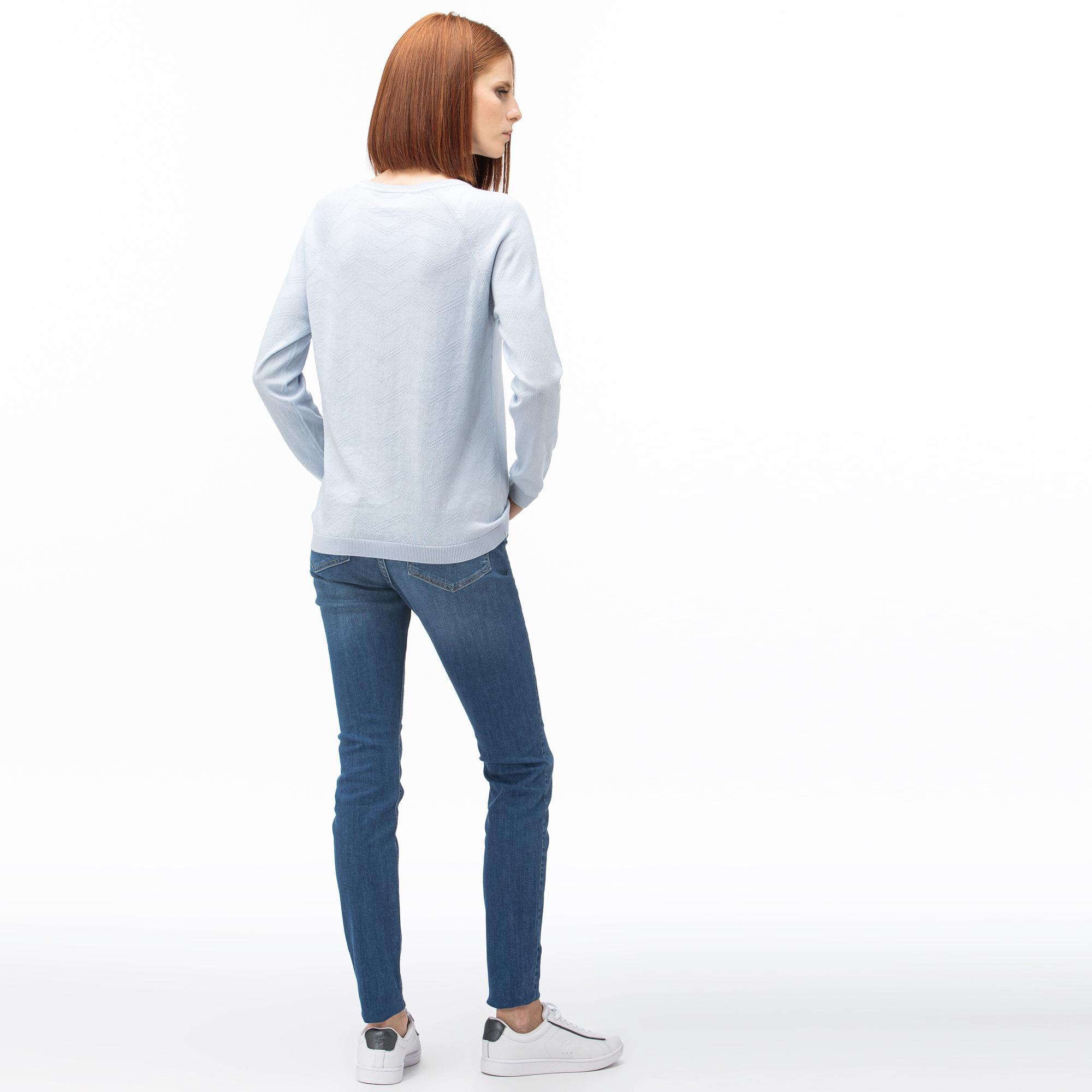 Lacoste Kadın Denim Lacivert Pantolon
