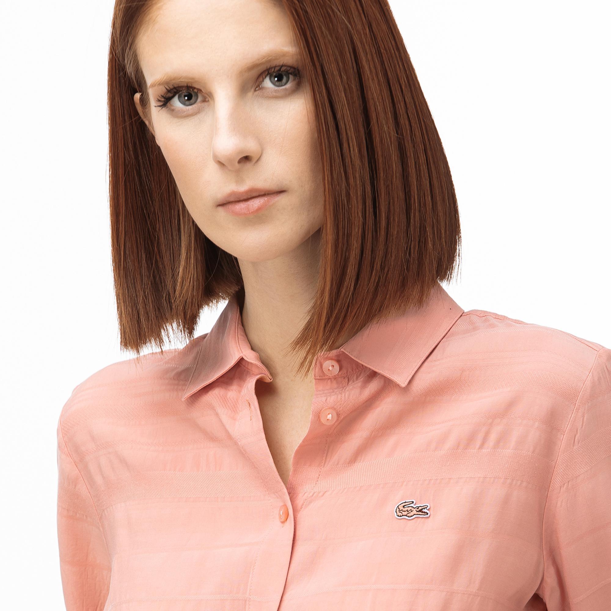 Lacoste Kadın Açık Pembe Gömlek