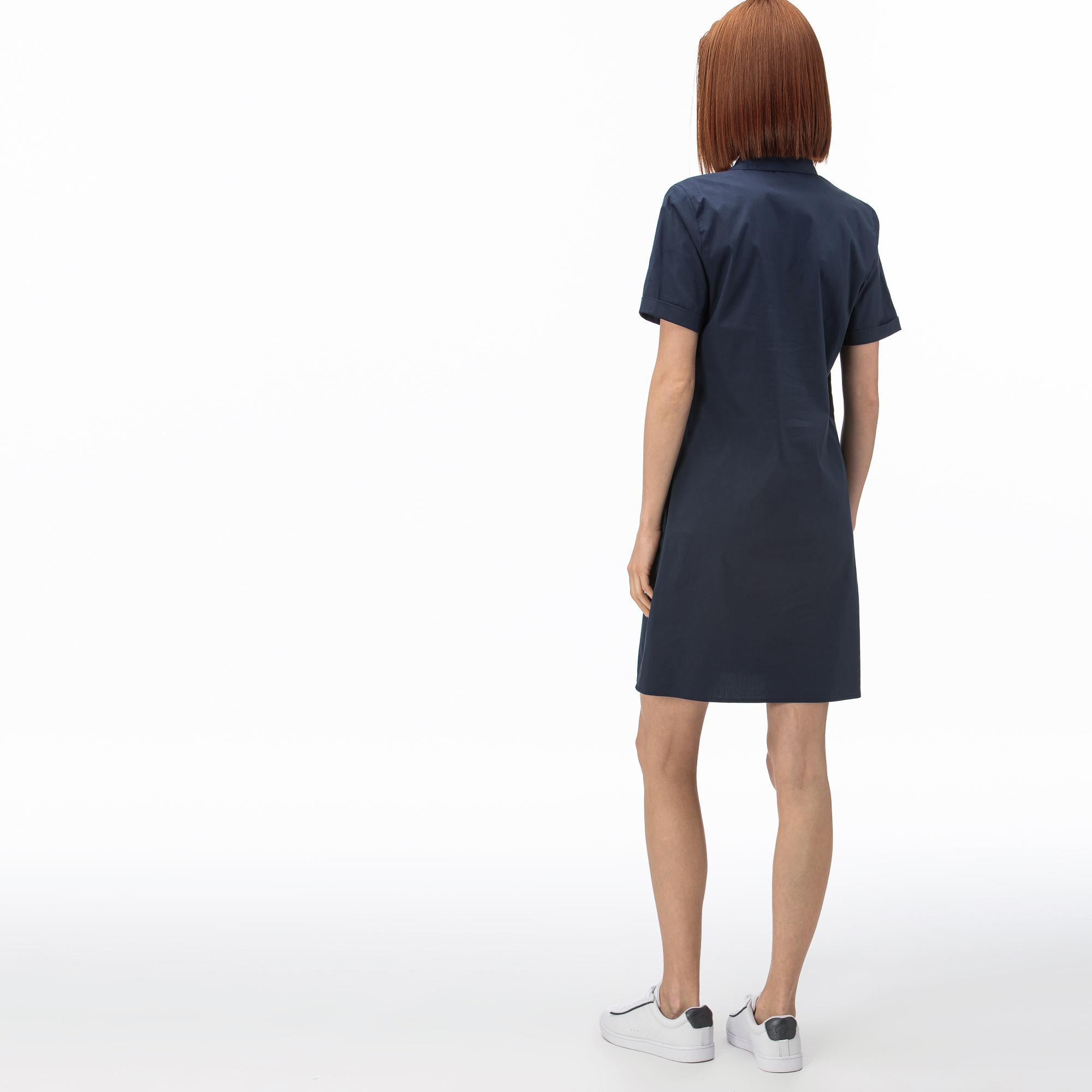 Lacoste Kadın Kısa Kollu Lacivert Elbise