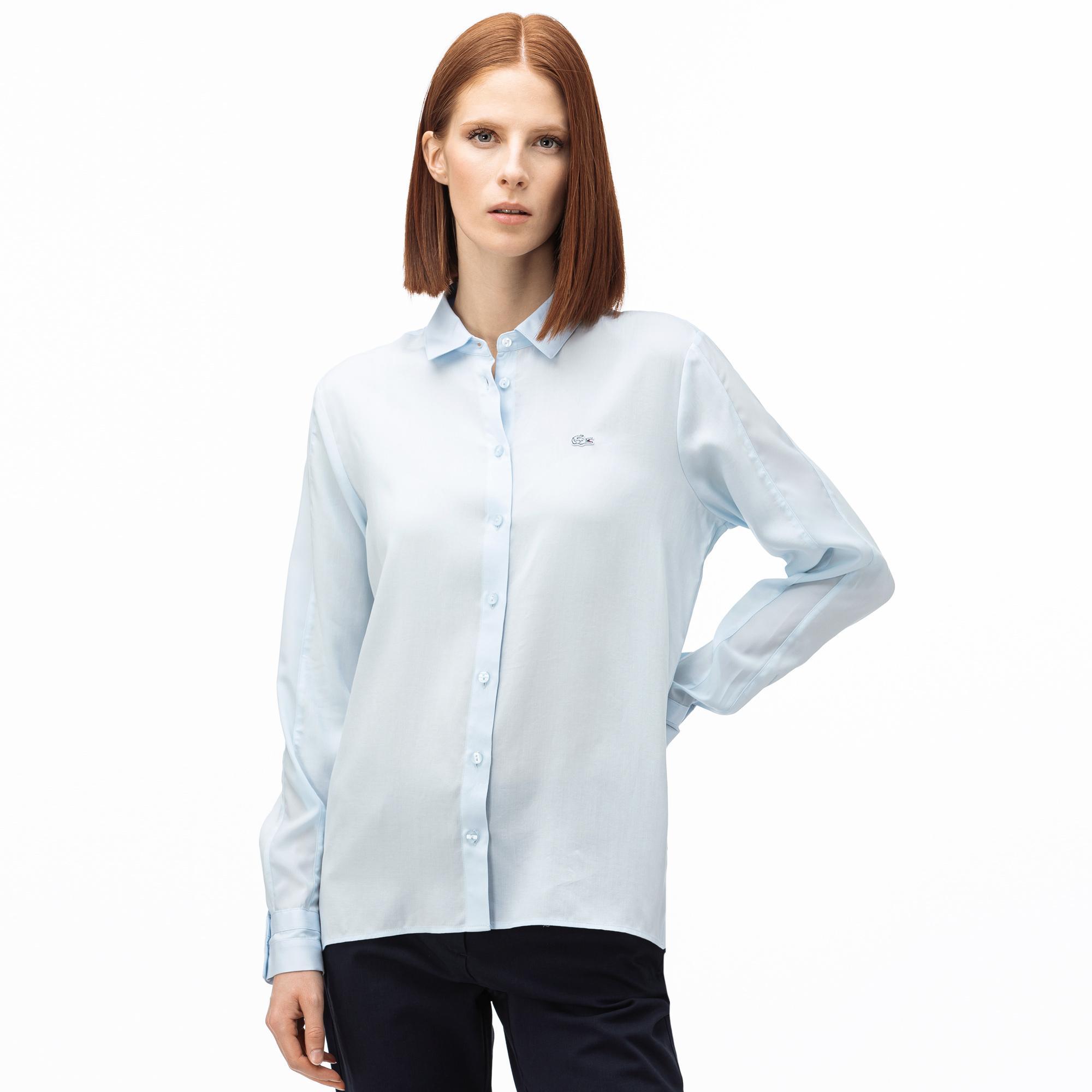 Lacoste Kadın Açık Mavi Gömlek