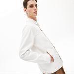 Lacoste Erkek Denim Beyaz Ceket