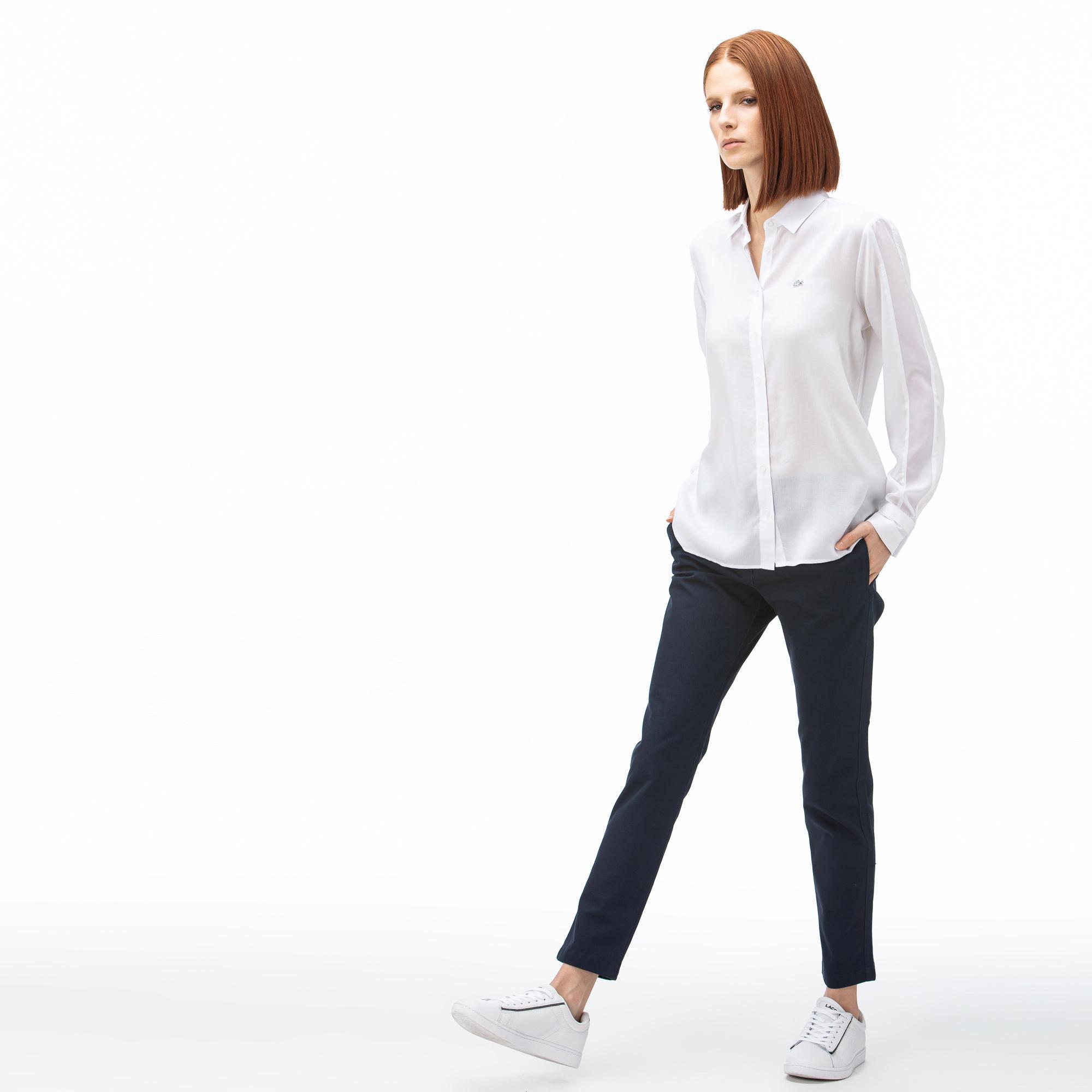 Lacoste Kadın Lacivert Pantolon