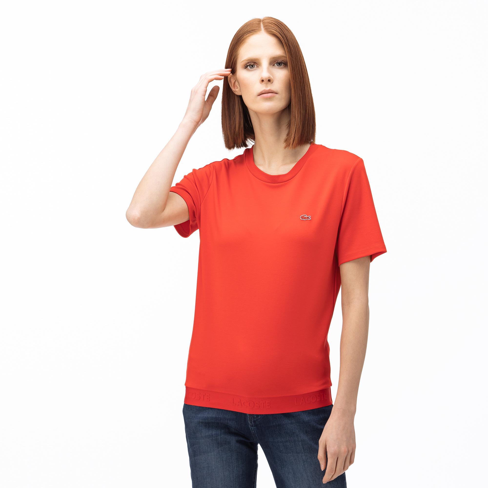 Lacoste Kadın Kayık Yaka Kırmızı T-Shirt