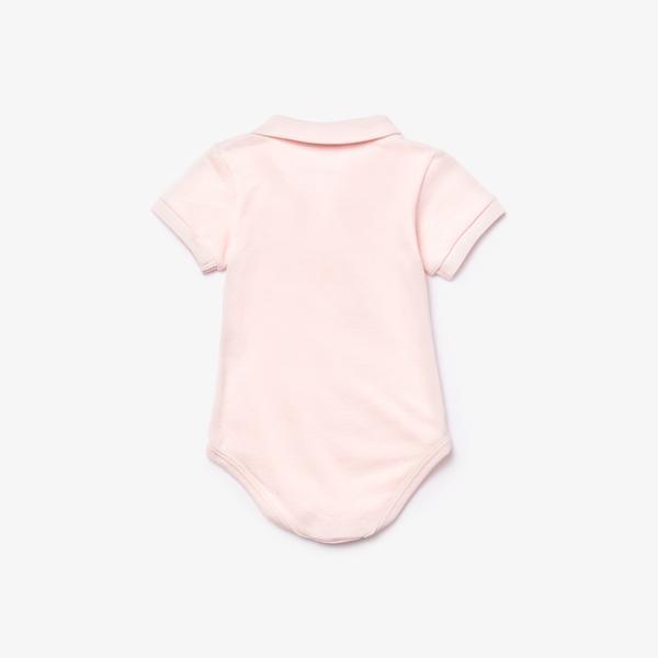 Lacoste Çocuk Kısa Kollu Açık Pembe Pijama