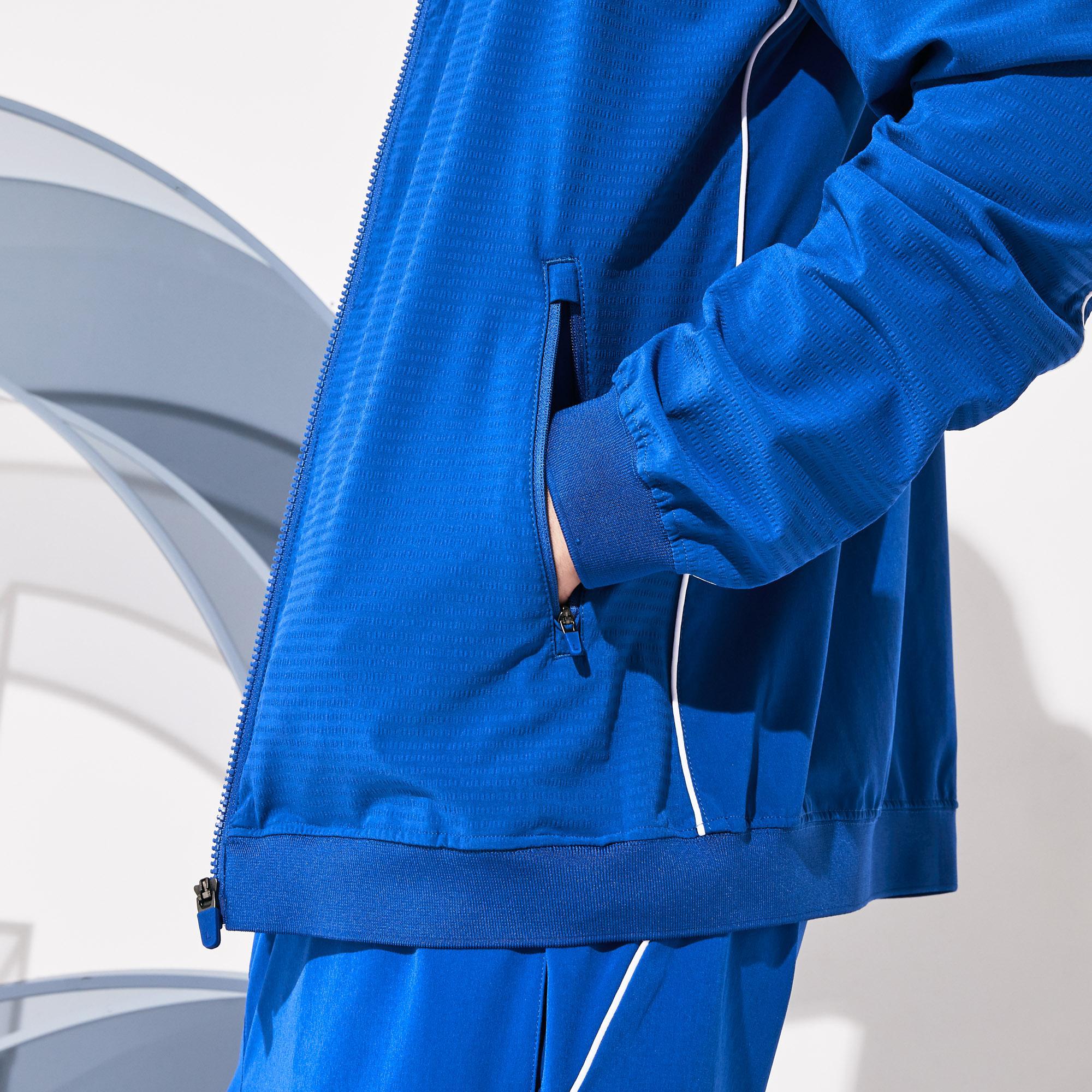 Lacoste Sport x Novak Djokovic Erkek Baskılı Saks Mavi Mont