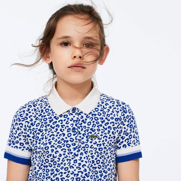 Lacoste Çocuk Desenli Mavi Polo