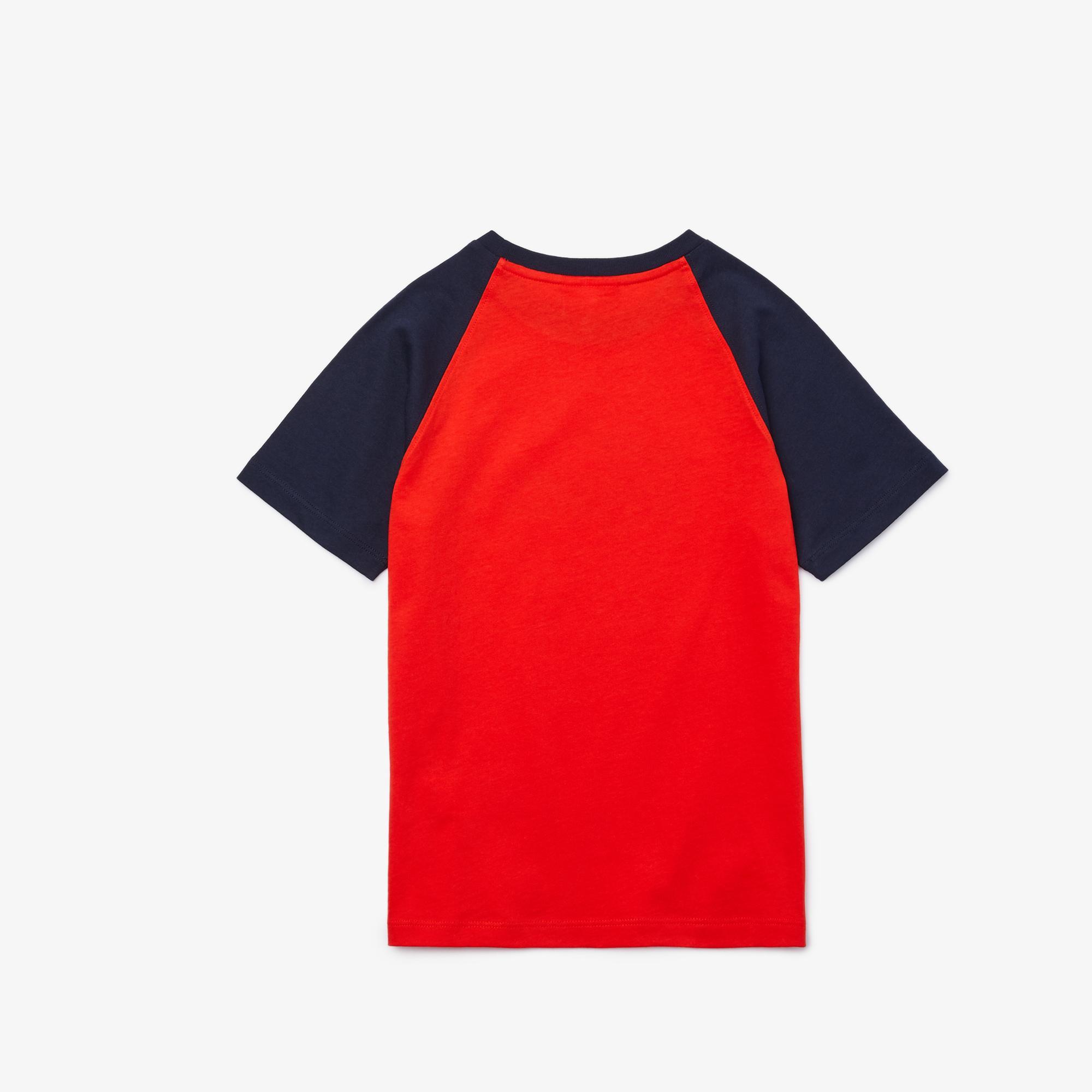 Lacoste Çocuk Bisiklet Yaka Timsah Baskılı Kırmızı T-Shirt