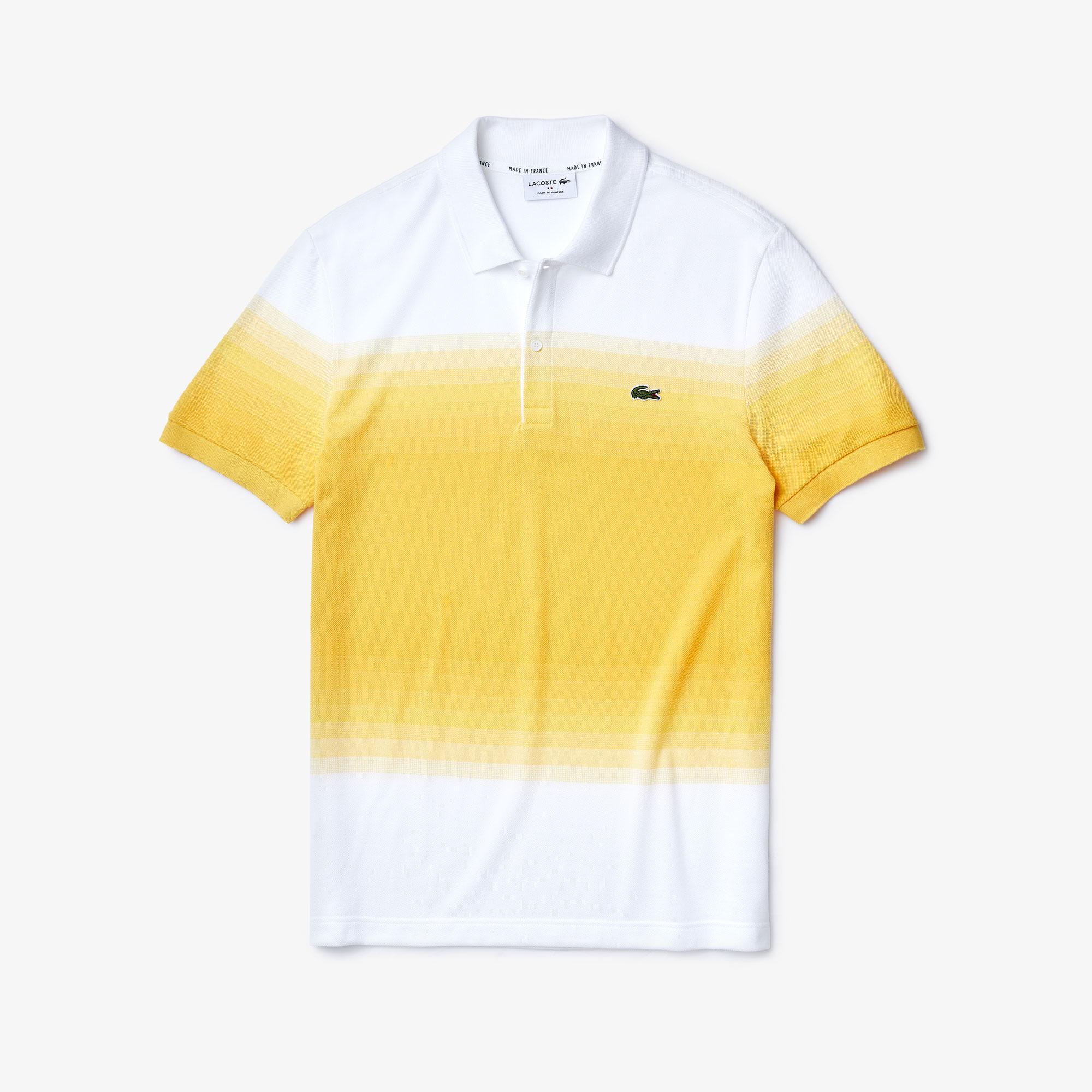 Lacoste Erkek Regular Fit Degrade Beyaz - Sarı Polo