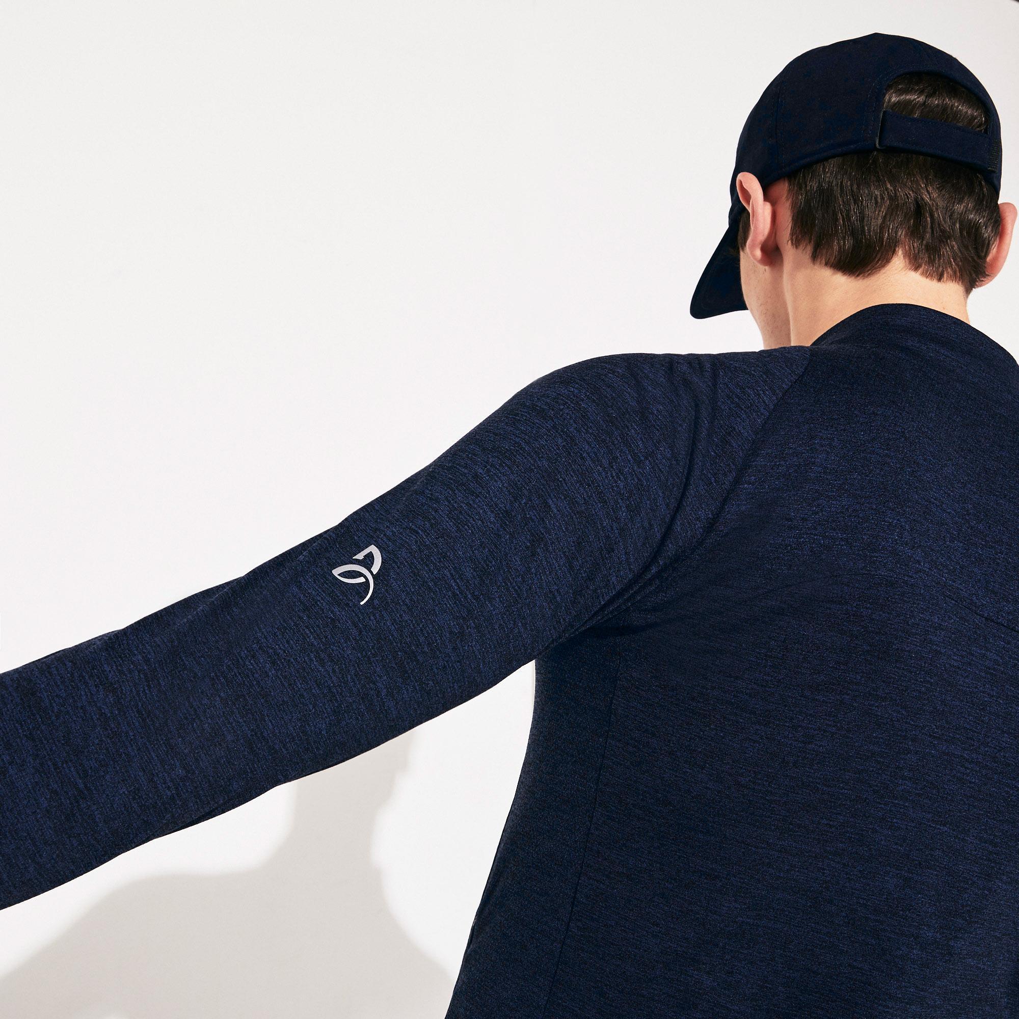 Lacoste Sport Erkek Fermuarlı Lacivert Sweatshirt