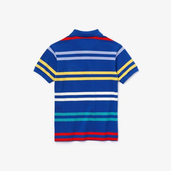 Lacoste Çocuk Çizgili Lacivert Polo