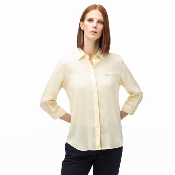 Lacoste Kadın Sarı Gömlek