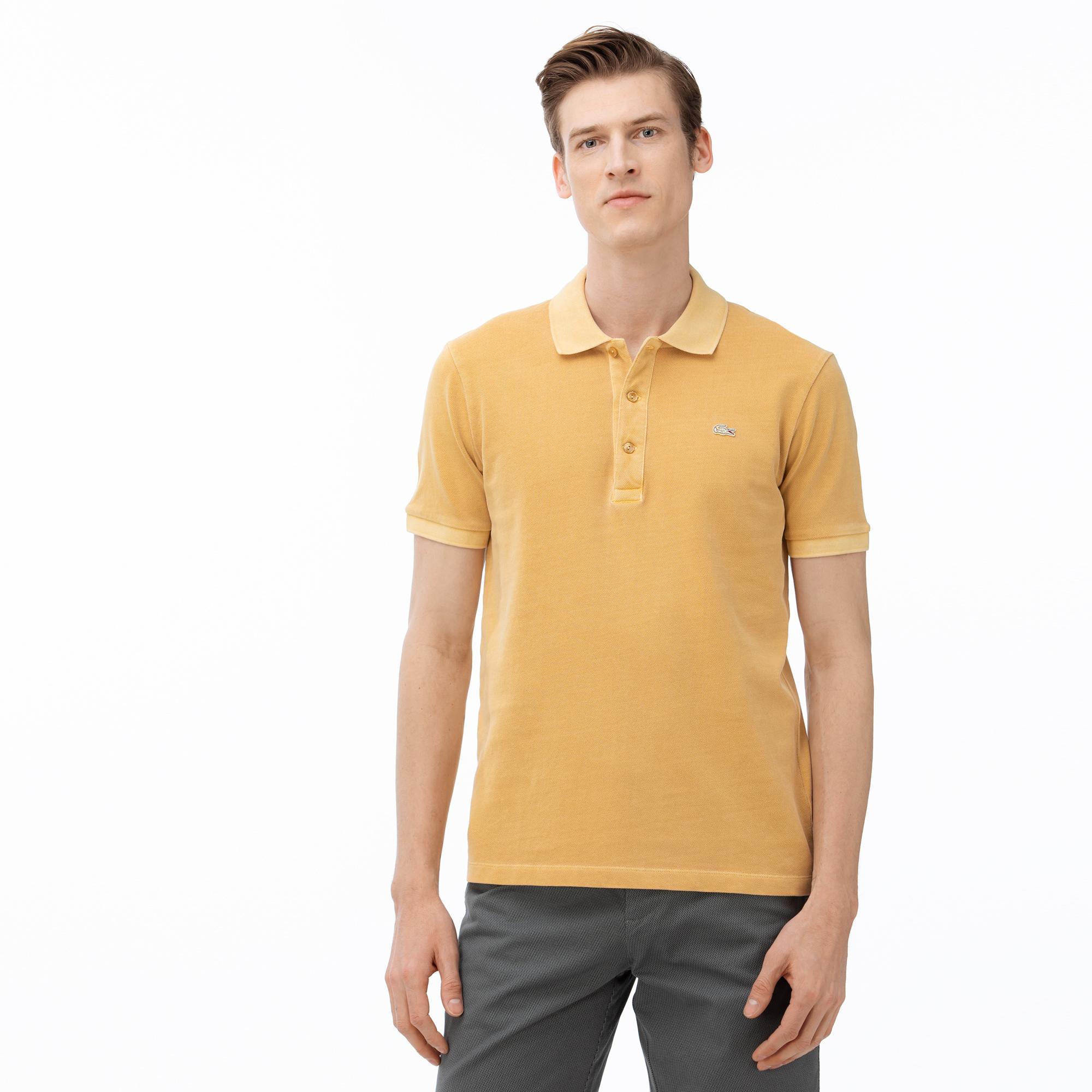 Lacoste Erkek Slim Fit Açık Sarı Polo