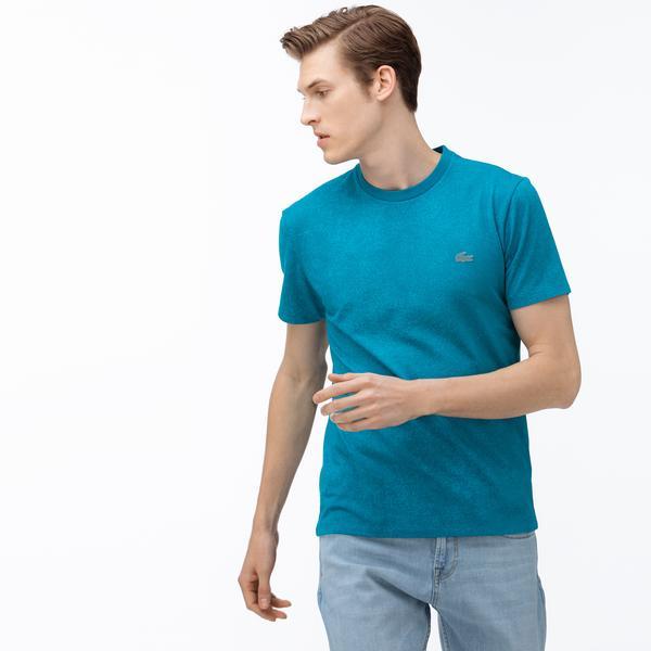 Lacoste Motion Erkek Bisiklet Yaka Mavi T-Shirt