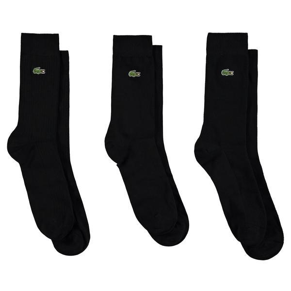 Lacoste Unisex Siyah 3'lü Çorap