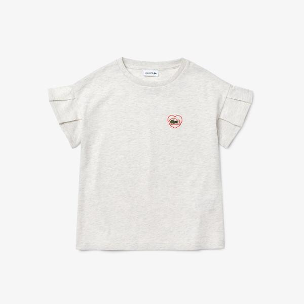Lacoste Çocuk Bisiklet Yaka Gri T-Shirt