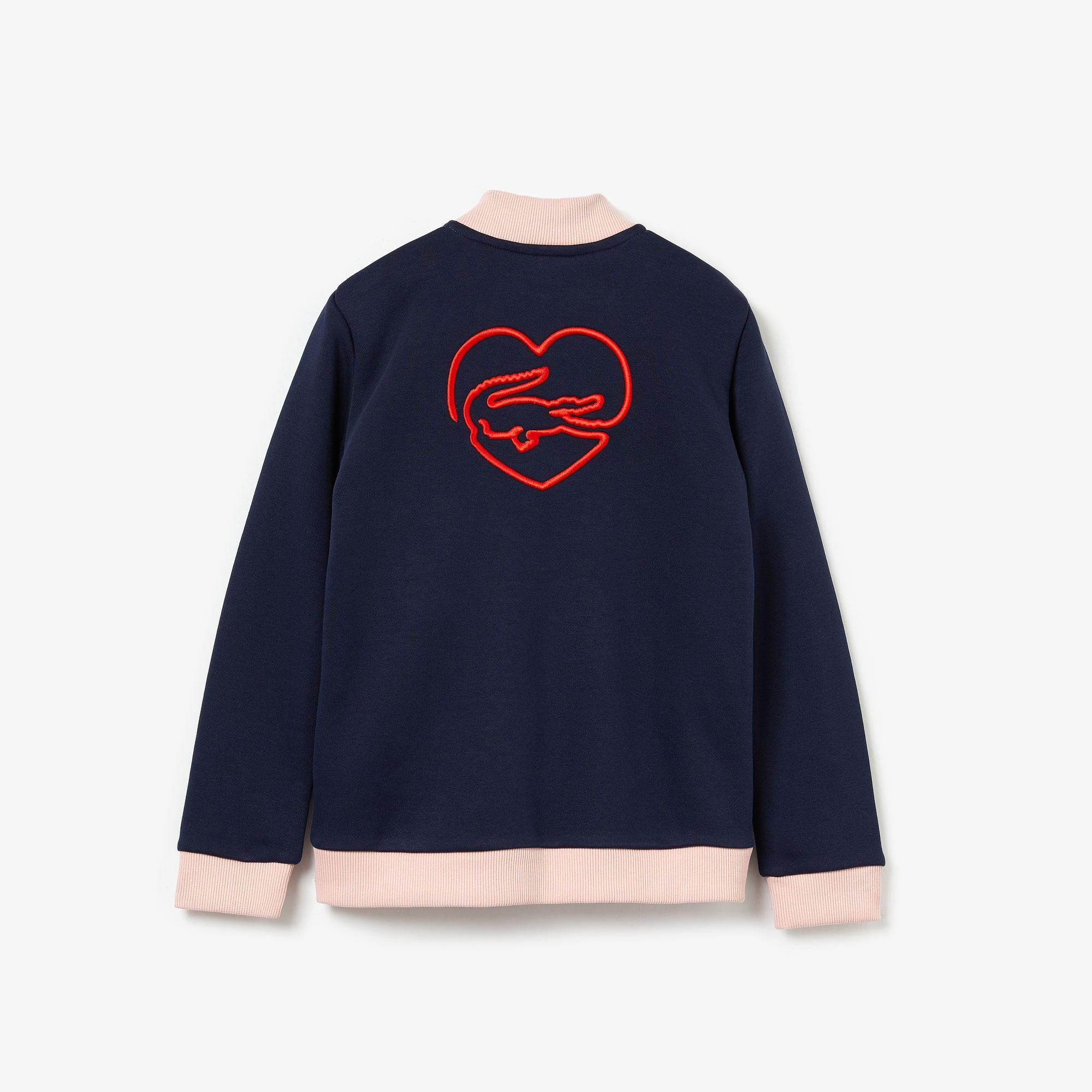 Lacoste Çocuk Fermuarlı Timsah Nakışlı Lacivert Sweatshirt