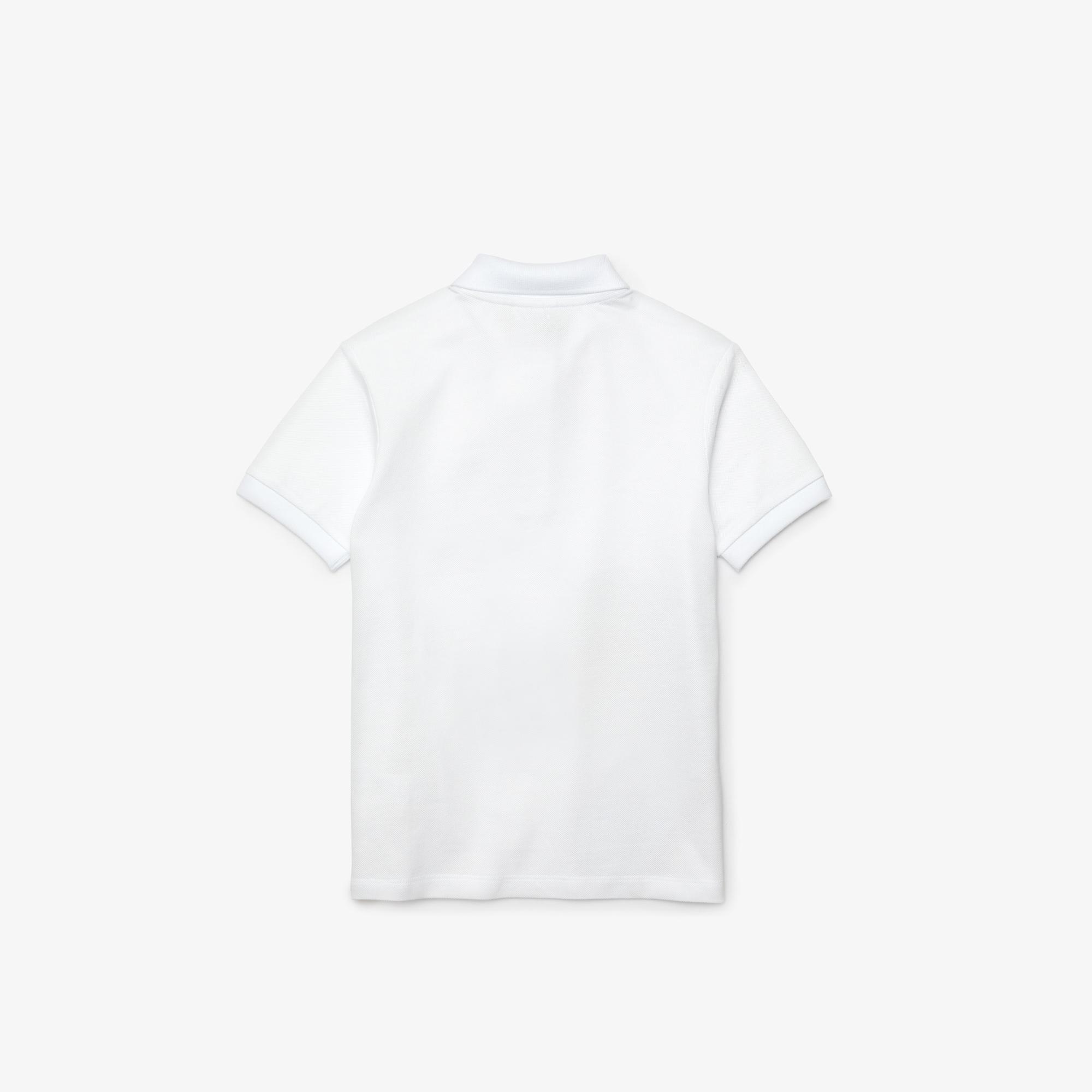Lacoste X Jean-Michel Tixier Çocuk Timsah Baskılı Beyaz Polo