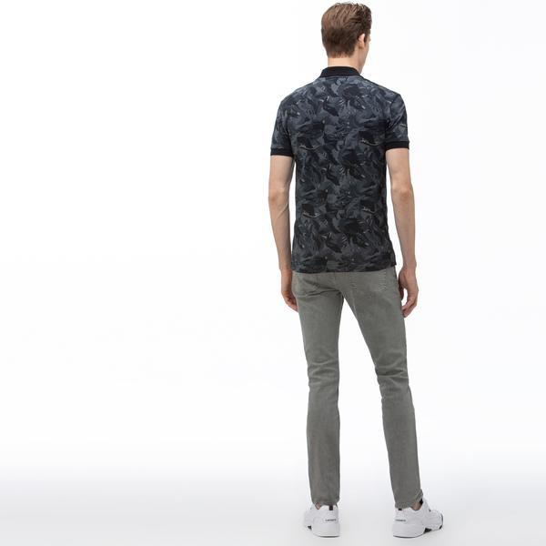 Lacoste Erkek Slim Fit Denim Gri Pantolon