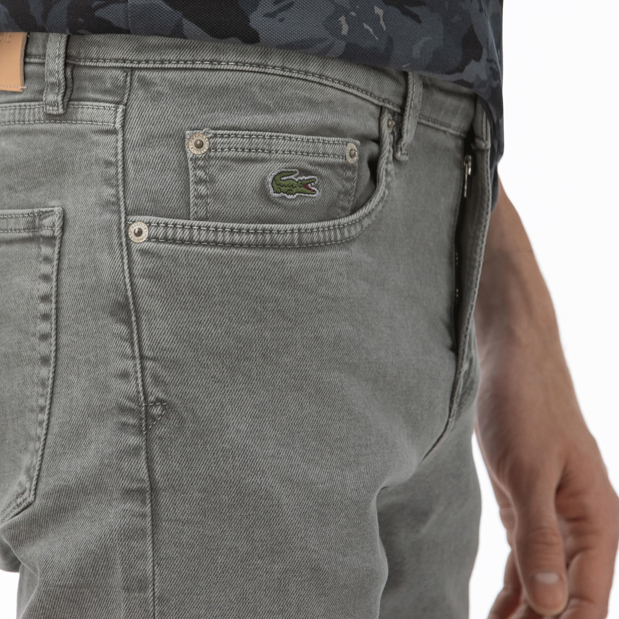 Lacoste Erkek Slim Fit Denim Gri Pantolon