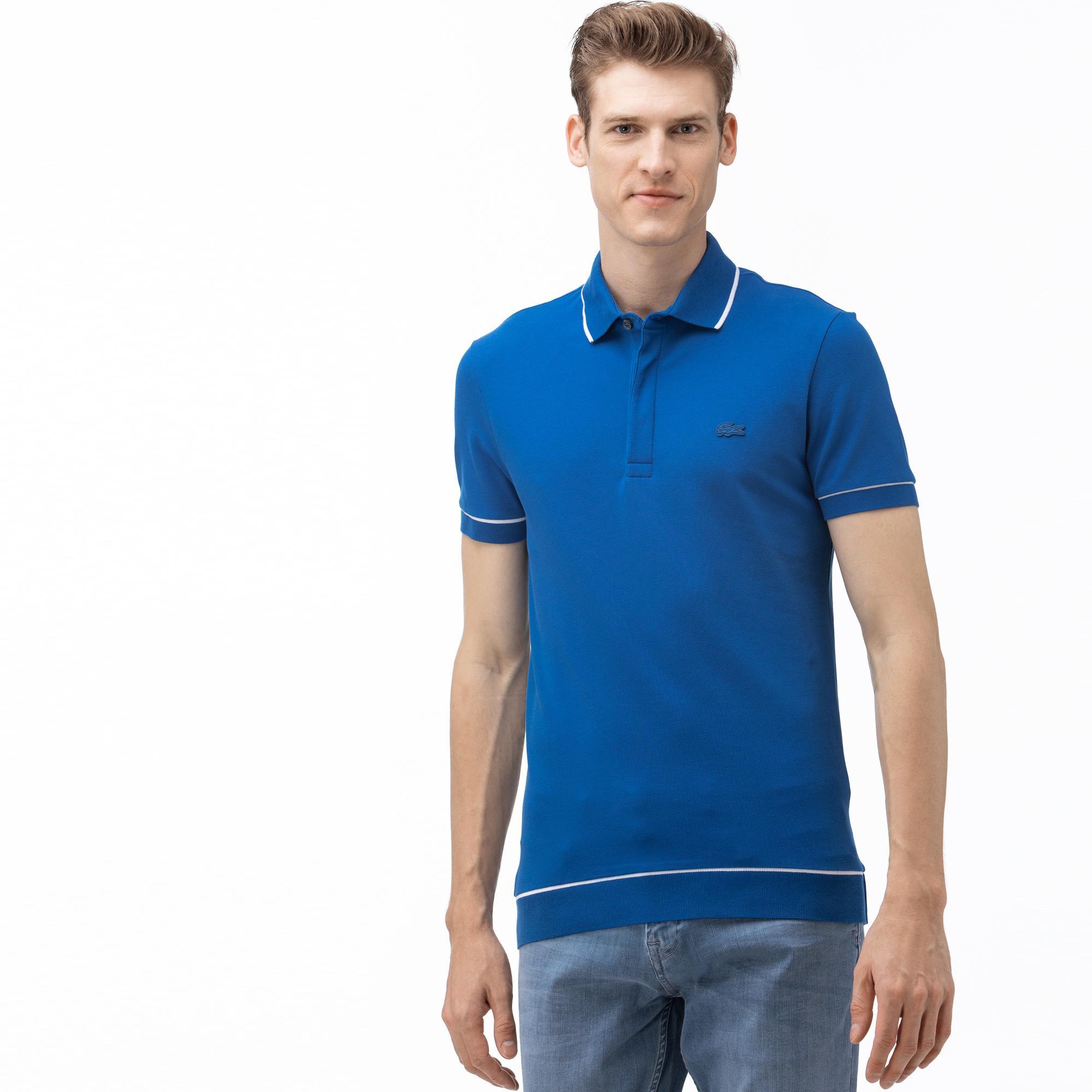 Lacoste Erkek Regular Fit Saks Mavi Polo