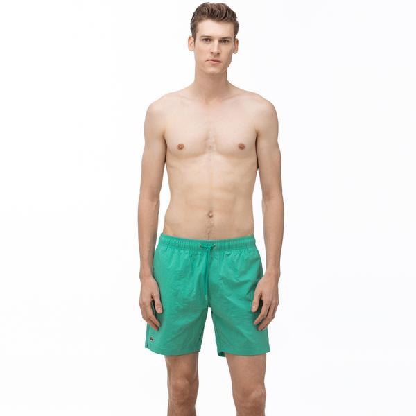 Lacoste Erkek Baskılı Yeşil Şort Mayo