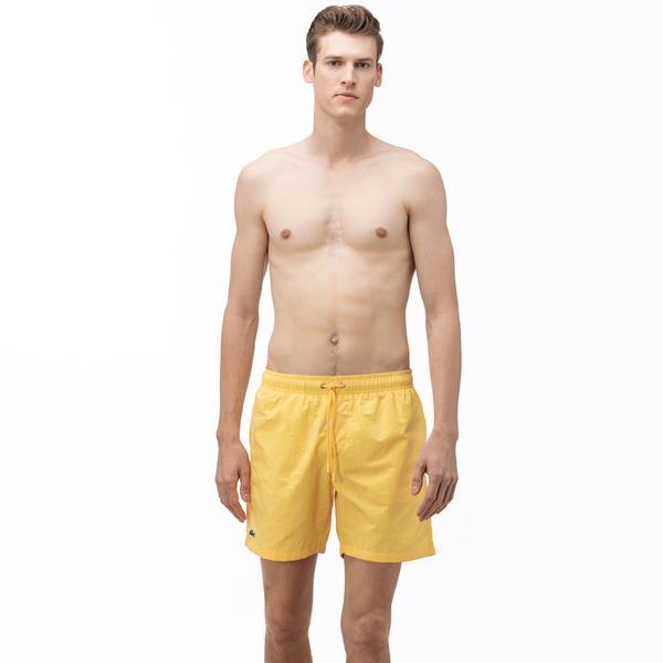 Lacoste Erkek Sarı Şort Mayo