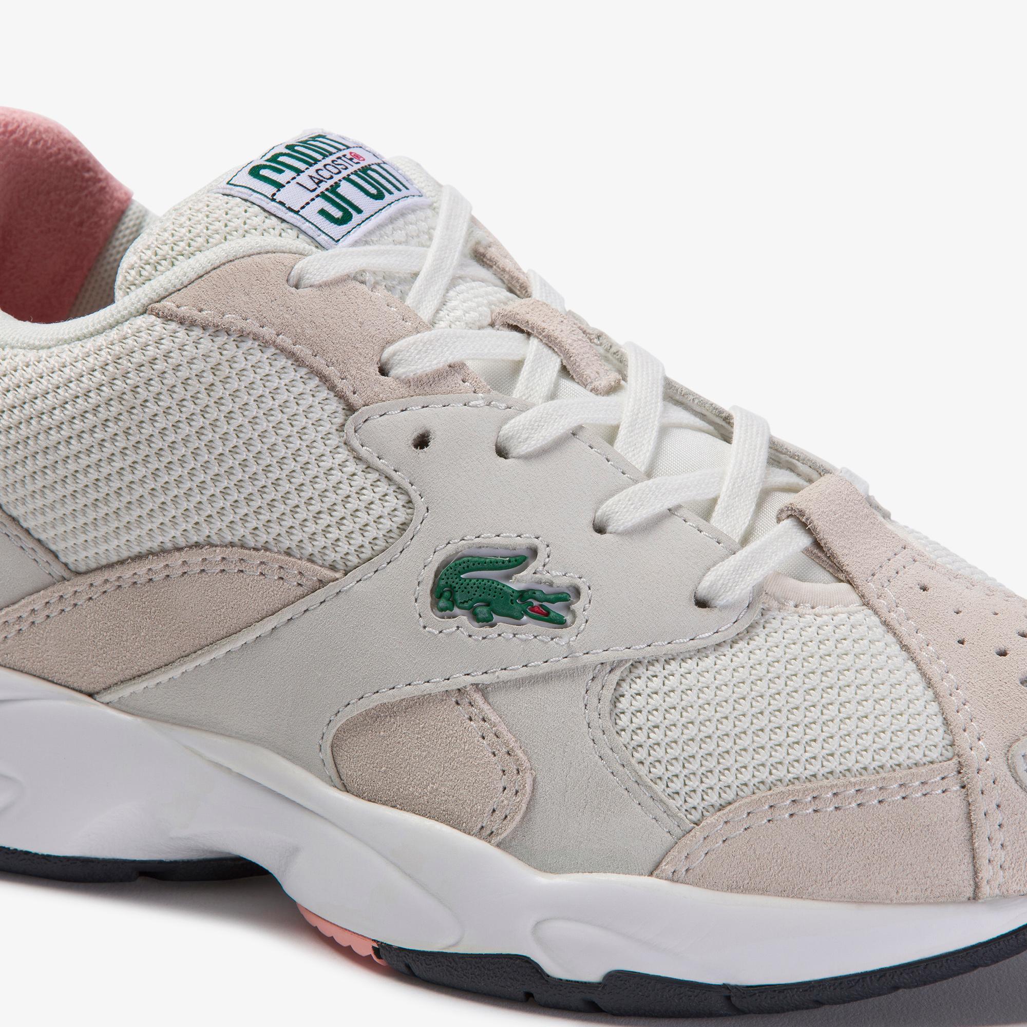 Lacoste Storm 96 120 3 Us Sfa Kadın Beyaz - Pembe Sneaker