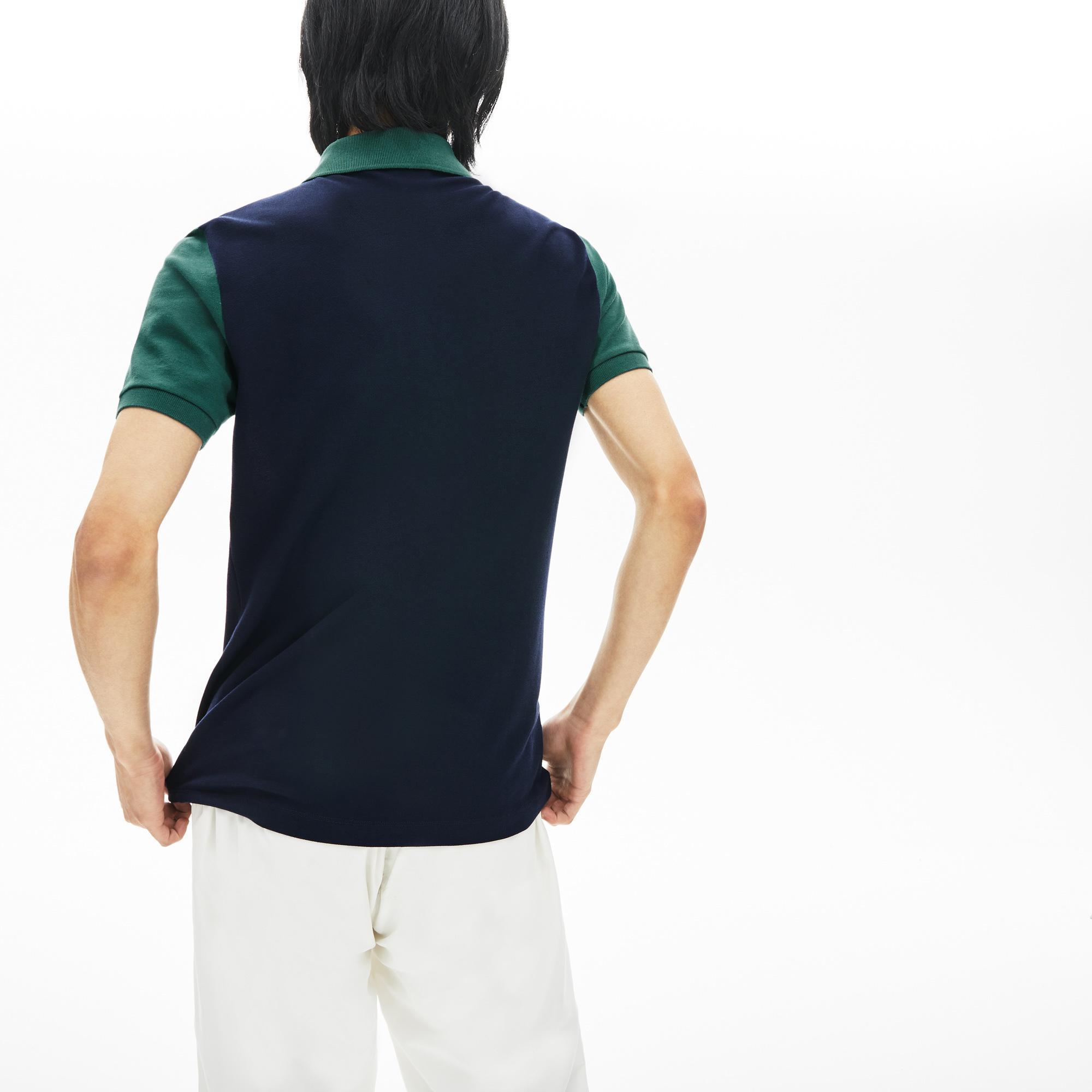 Lacoste Erkek Slim Fit Blok Desenli Renkli Polo