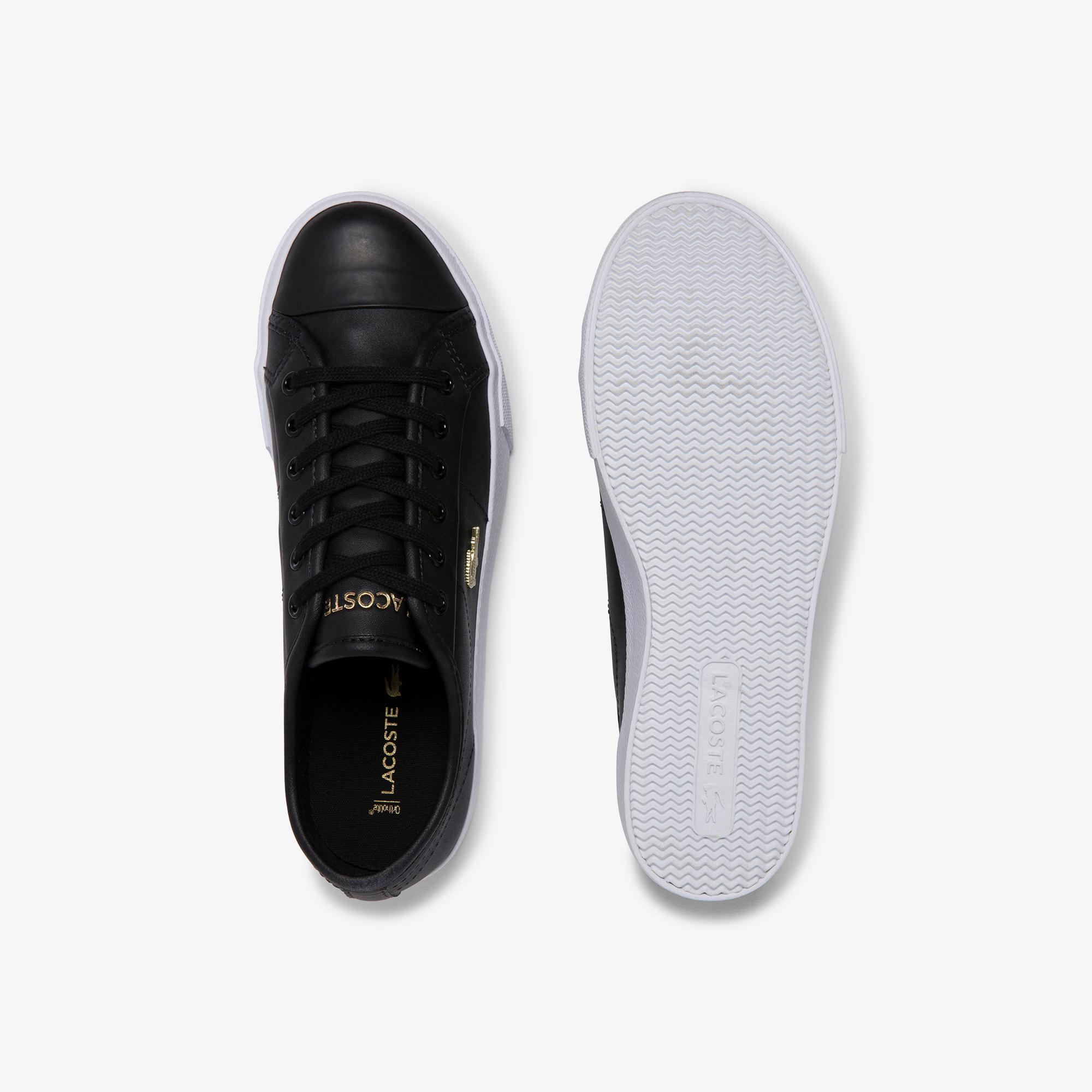 Lacoste Ziane Plus Grand 120 1 Cfa Kadın Siyah Deri Casual Ayakkabı