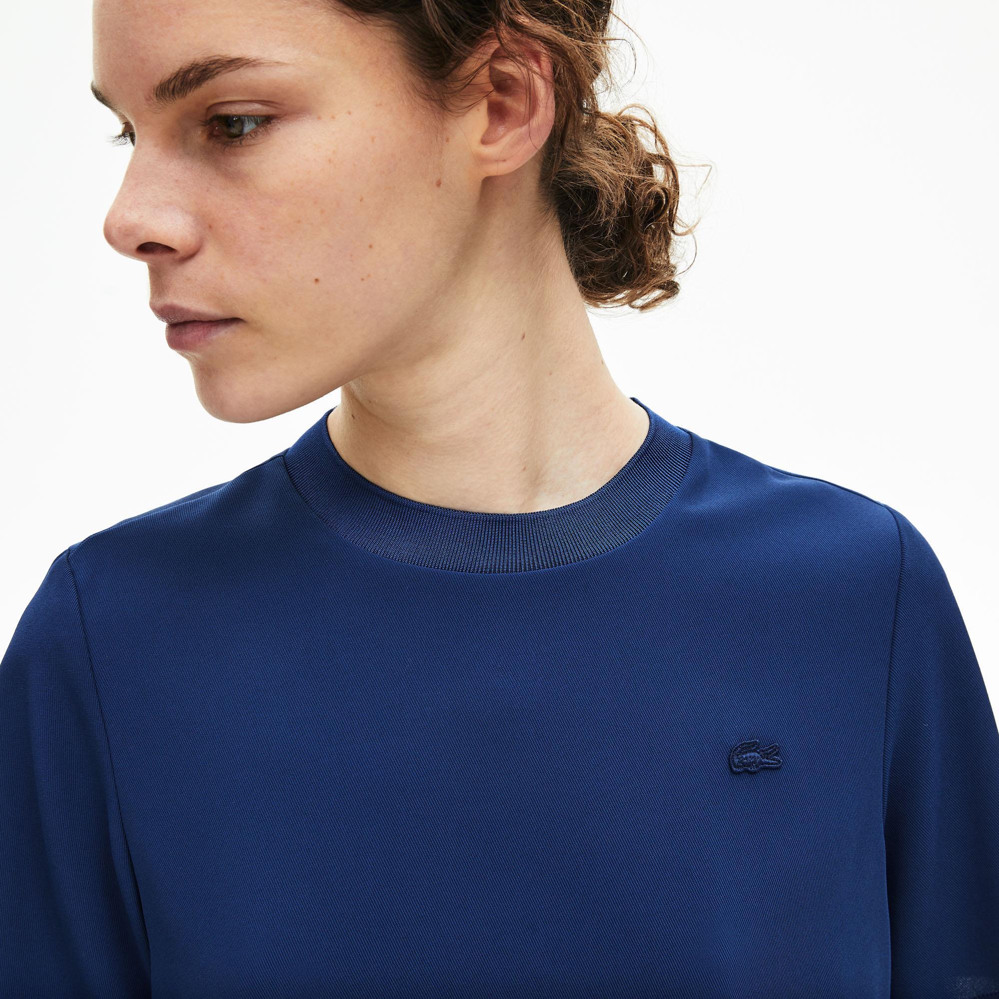 Lacoste Motion Kadın Bisiklet Yaka Kısa Kollu Saks Mavi Bluz