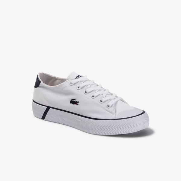 Lacoste Gripshot 120 2 Cfa Kadın Beyaz - Lacivert Sneaker