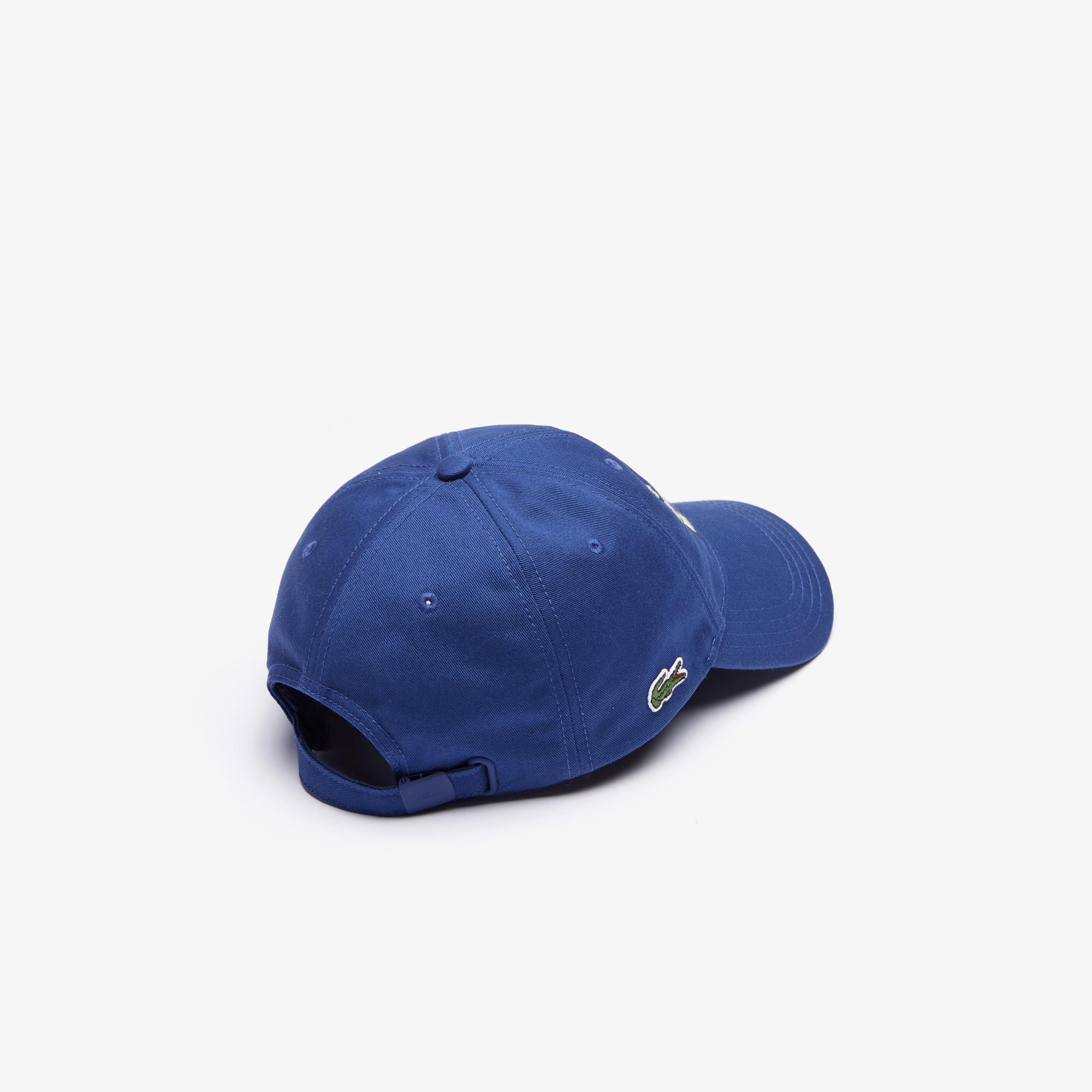 Lacoste X Jeremyville Unisex Desenli Saks Mavi Şapka