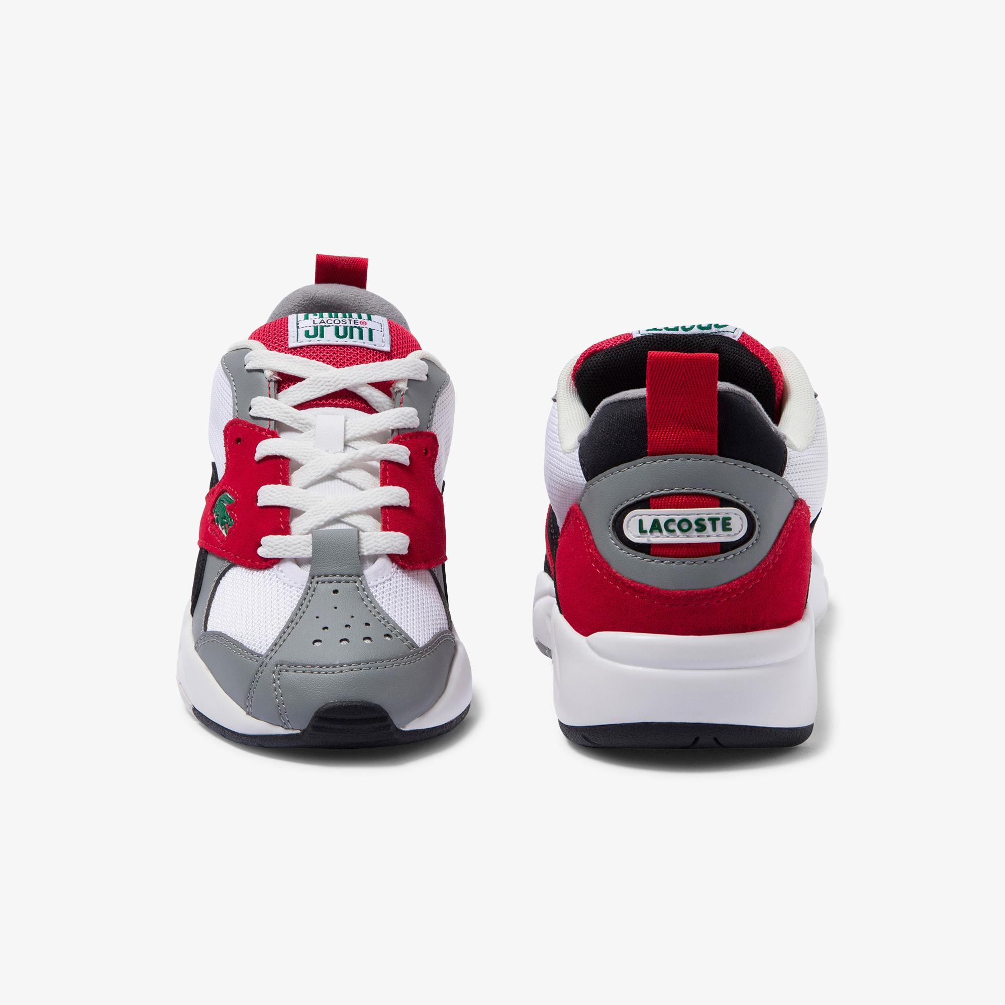 Lacoste Storm 96 120 4 Us Sfa Kadın Gri - Kırmızı Sneaker
