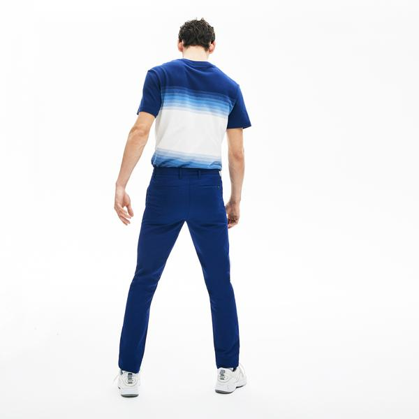 Lacoste Erkek Slim Fit Saks Mavi Pantolon