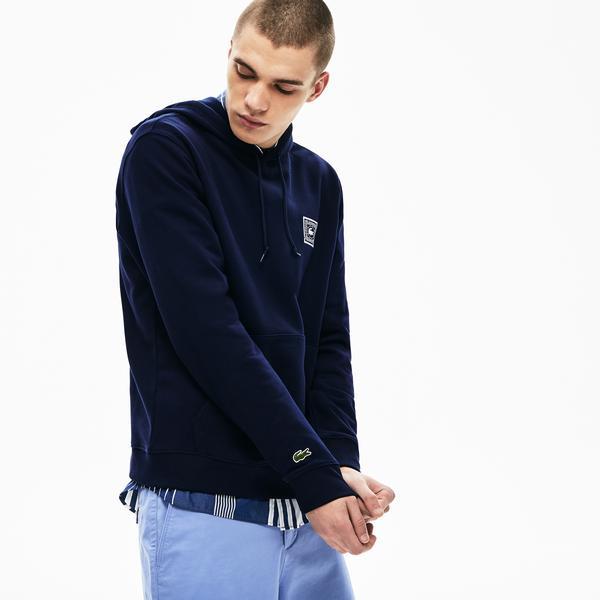 Lacoste Erkek Kapüşonlu Timsah Baskılı Lacivert Sweatshirt