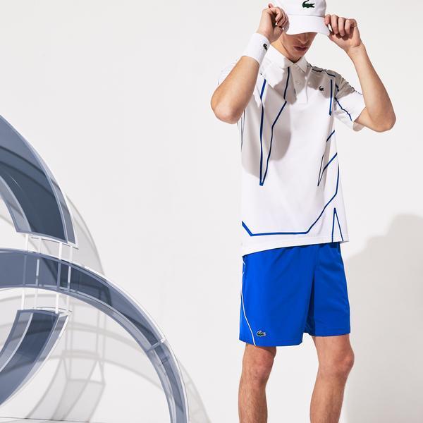 Lacoste Sport Erkek Saks Mavi Şort