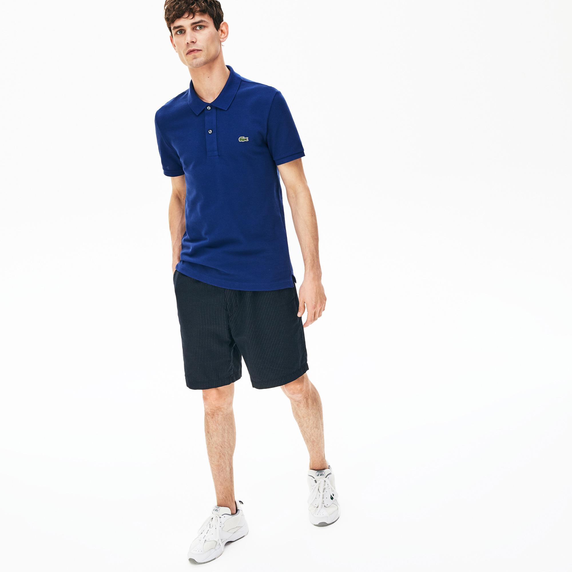 Lacoste Erkek Slim Fit Saks Mavi Polo