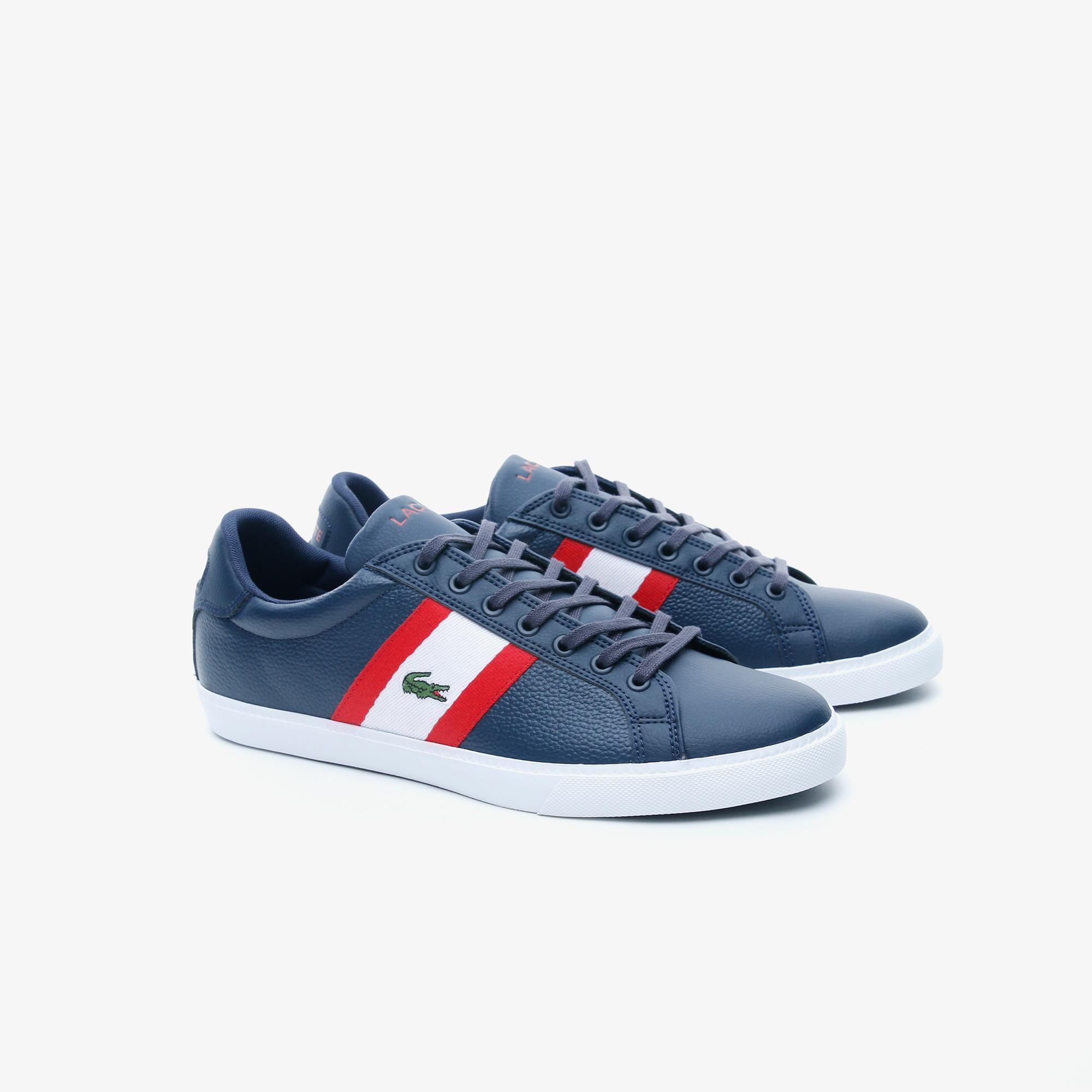 Lacoste Grad Vulc 120 2 P Sma Erkek Lacivert - Beyaz Deri Sneaker